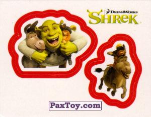 PaxToy.com  Карточка / Card, Наклейка / Стикер 36 Раздельный стикер - Шрек и Друзья из Cheetos: Shrek the Third Stickers