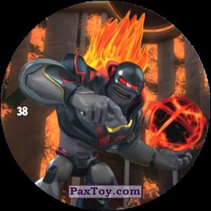 PaxToy.com  Карточка / Card, Фишка / POG / CAP / Tazo 38 VULKAN из Chipicao: GORMITI