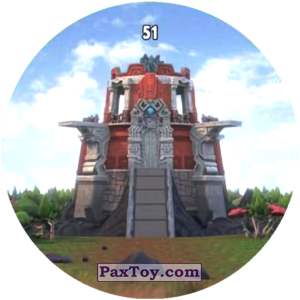 PaxToy.com  Карточка / Card, Фишка / POG / CAP / Tazo 51 GORMITI CASTLE из Chipicao: GORMITI