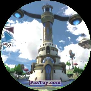 PaxToy.com  Карточка / Card, Фишка / POG / CAP / Tazo 53 WIND CASTLE из Chipicao: GORMITI