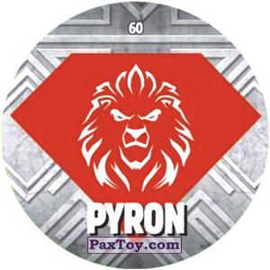 PaxToy.com  Карточка / Card, Фишка / POG / CAP / Tazo 60 PYRON logo из Chipicao: GORMITI