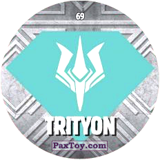 PaxToy.com  Карточка / Card, Фишка / POG / CAP / Tazo 69 TRITYON logo из Chipicao: GORMITI