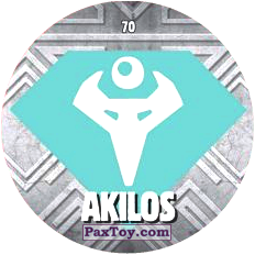 PaxToy.com  Карточка / Card, Фишка / POG / CAP / Tazo 70 AKILOS logo из Chipicao: GORMITI
