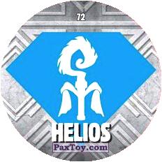 PaxToy.com  Карточка / Card, Фишка / POG / CAP / Tazo 72 HELIOS logo из Chipicao: GORMITI
