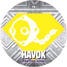 PaxToy.com  Карточка / Card, Фишка / POG / CAP / Tazo 79 HAVOK logo из Chipicao: GORMITI