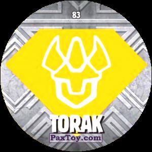 PaxToy.com  Карточка / Card, Фишка / POG / CAP / Tazo 83 TORAK из Chipicao: GORMITI