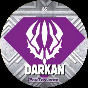 PaxToy.com  Карточка / Card, Фишка / POG / CAP / Tazo 86 DARKAN из Chipicao: GORMITI
