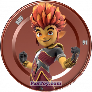 PaxToy.com  Карточка / Card, Фишка / POG / CAP / Tazo 91 RIFF (Metallic Cap) из Chipicao: GORMITI