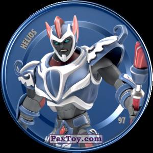 PaxToy.com  Карточка / Card, Фишка / POG / CAP / Tazo 97 HELIOS (Metallic Cap) из Chipicao: GORMITI