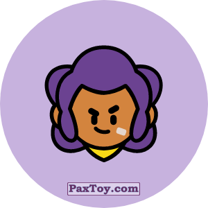 PaxToy.com - Игрушка 06 Бравл - Шелли воин (Сторна-back) из Пятерочка: Бравлы Старс