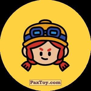 PaxToy.com - 07 Бравл - Джесси воин (Сторна-back) из Пятерочка: Бравлы Старс