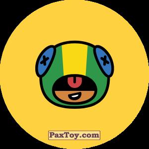 PaxToy.com - 23 Бравл - Леон скрытный убийца (Сторна-back) из Пятерочка: Бравлы Старс